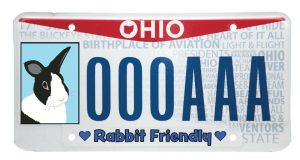 Want a bunny license plate? Stop by the center and sign our petition!
